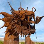 Metal Sky Art Serpent Sculpture in Borrego Springs