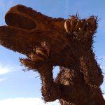 Metal Sky Art T-Rex Dinosaur Sculpture in Borrego Springs
