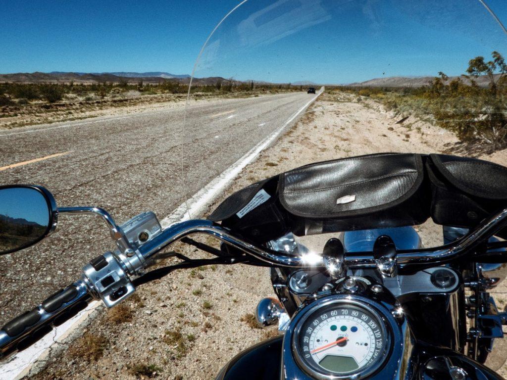 Riding motorcycle to Borrego Springs